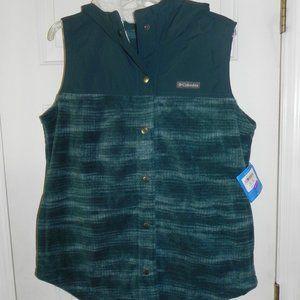 NWT Columbia Benton Springs Teal Hoodie Vest XL